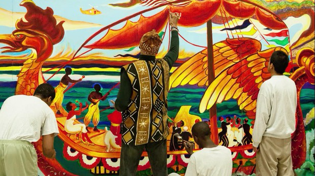 Arvie Smith worked with over 100 juveniles in Donald E. Long Detention to design and paint murals.