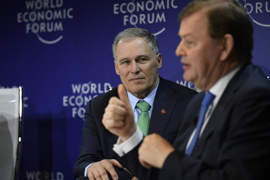 Gov. Jay Inslee traveled to Davos, Switzerland for the World Economic Forum early this year.