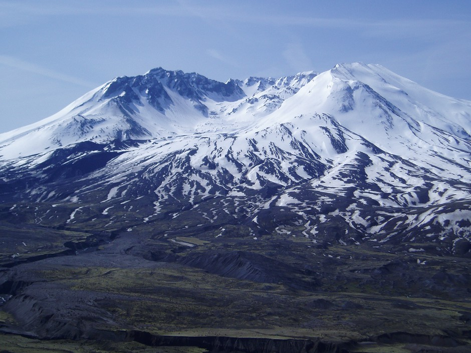 This classic view of Mount St. Helens from the Johnston Ridge Observatory and Visitor Center is off-limits for the 40th anniversary of the volcanic eruption.