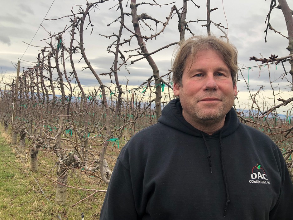 Mark Hanrahan, of Buena, Washington, worries that his valuable cherries won't have a profitable market early this summer if coronavirus doesn't clear up in China.