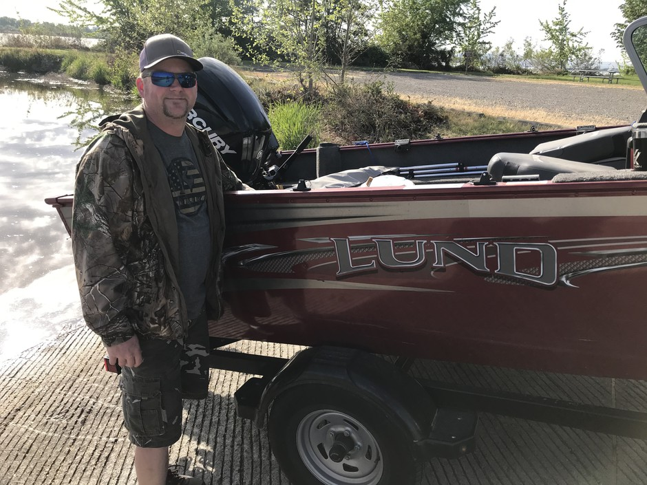 Kennewick resident Ed Hearn was the first person to launch his boat from Sacajawea State Park, 30 minutes after it opened Tuesday, May 5. Hearn tries to make it to the park at least once a weekend during the summer.