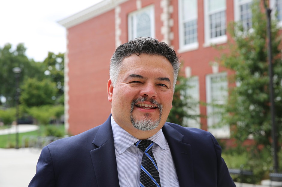 Superintendent Guadalupe Guerrero outside of Franklin High School on Aug. 9, 2019.