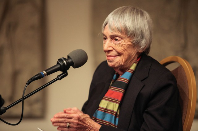 "Author Ursula LeGuin speaks with OPB ""State of Wonder"" host April Baer at Wordstock."