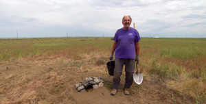 David H. Johnson has installed hundreds of homemade burrows like this one on the Umatilla Chemical Depot.