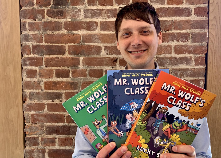 """Portland elementary school teacher Aron Nels Steinke is the author of the """"Mr Wolf's Class"""" graphic novel series for kids."""