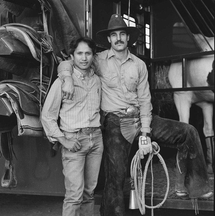 Photographer Blake Little documented life at gay rodeos in the 1980s and 1990s. His photographs are on display at the University of Oregon.