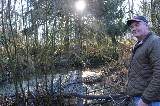 Steve Hinton is the habitat restoration manager for the Swinomish Tribal Community and the Sauk-Suiattle Tribe. Part of his job is to identify road culverts that block salmon's path.