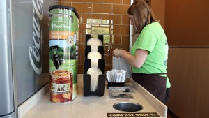 Compostable straws cost five times as much as regular plastic straws, says Taco Time Northwest Sustainability Manager Wes Benson.