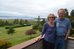 The Swansons' Whidbey Island home overlooks Admiralty Bay.