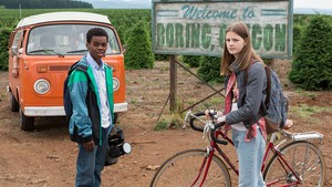 "Actors Jahi Winston and Peyton Kennedy star in Netflix's new filmed-in-Oregon series, ""Everything Sucks."""