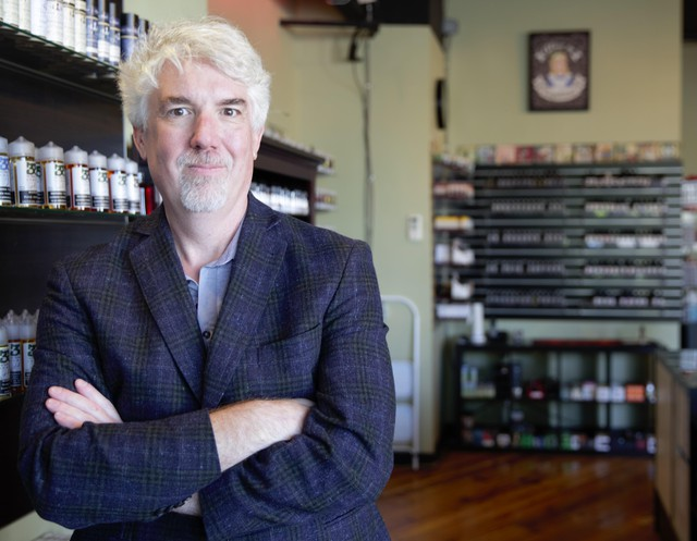 """Paul Bates, the owner of Division Vapor, said he may well file a lawsuit if Oregon Gov. Kate Brown imposes a moratorium on vaping products. """"It would depend on the nature of the laws and the nature of the bans."""""""
