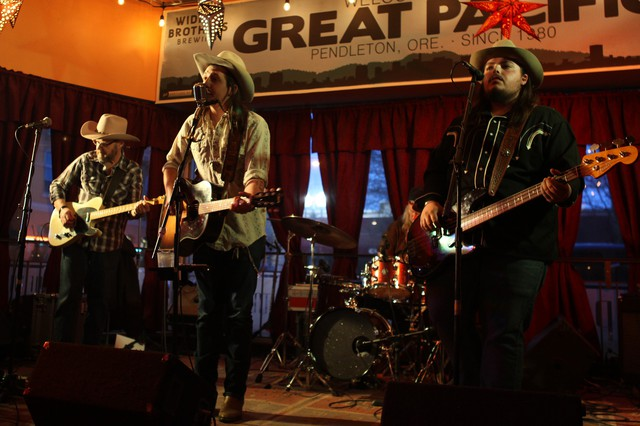 Tylor Ketchum (center) and his brothers (including Jason, right) have been playing Wheatstock since they were kids. Now they return as headliners.