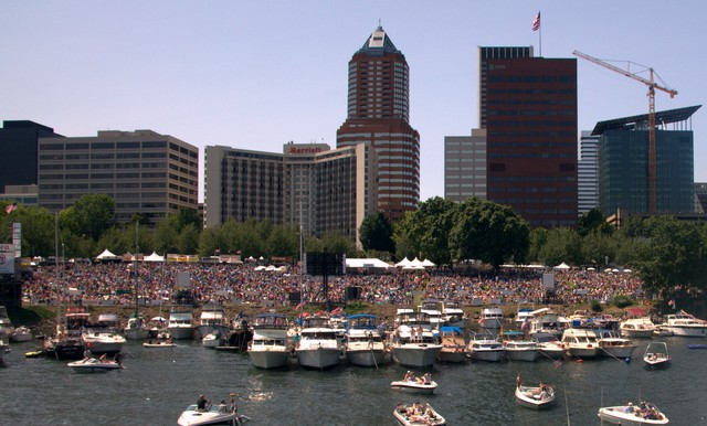 Portland police plan to let security staff at this weekend's Blues Festival deal with public pot use.