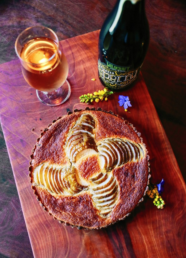 Sean Kelly crafted this Perry-Poached Pear Frangipane as an ode to the classic French dessert. His idea of the perfect accompaniment: A cup of coffee.