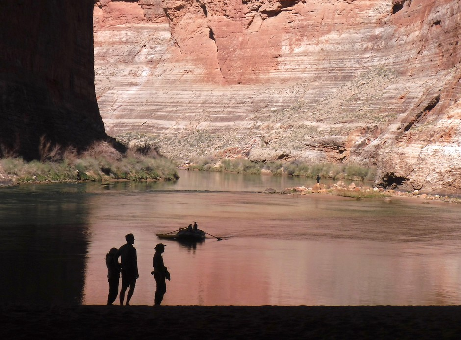 """On March 24, Fisher posted photos with the caption: """"Just got off 3 weeks floating thru the Grand Canyon, and came back to a strange new world."""""""