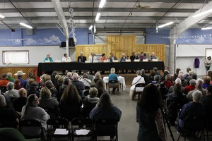 Some say the occupation is the elephant in the room at many candidate events. At the first of several Harney County candidate forums, the pre-written questions avoided any mention of the occupation.