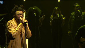 "Screenshot of Portland hip-hop artist Aminé as he performed on ""The Tonight Show with Jimmy Fallon"" on Nov. 15, 2016."