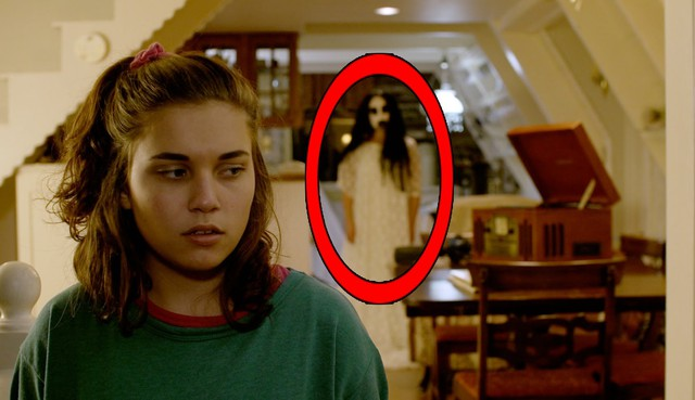 """Paige McKenzie as Sunshine Girl in her film """"THR33 - A Haunted House."""""""