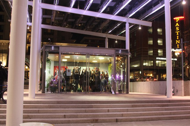 The 840-square-foot space on the west end of Director Park is home (til the end of April) to Portland Tropical Garden.