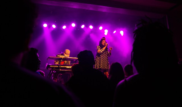 Portland duo Brown Calculus brought its smooth sounds of peace, love and community to the Wonder Ballroom Saturday, April 21, 2018.