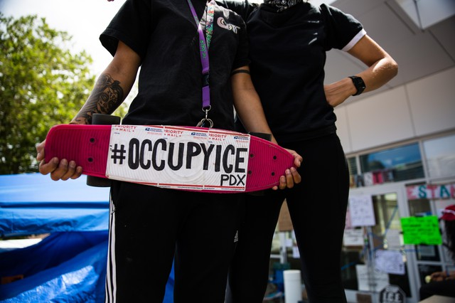"""Themovement dubbed """"Occupy ICE"""" has caught on in cities across the country and is a callback to the """"Occupy Wall Street"""" movement of years past."""