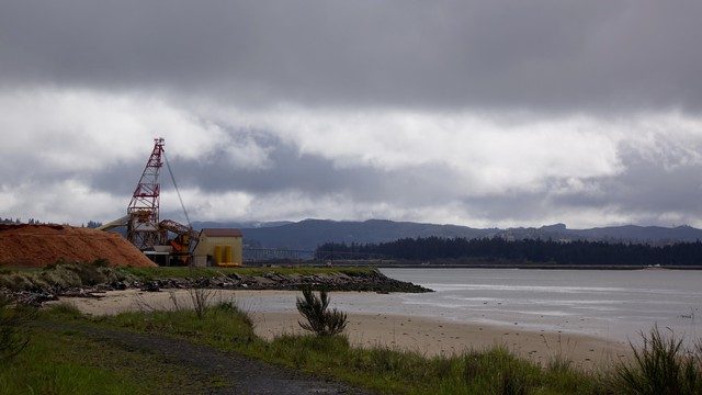 A view of Coos Bay from spot where Jordan Cove LNG terminal ship will be excavated, if approved by regulators.