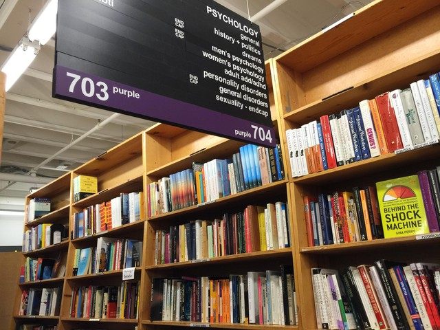 One of the many subsections in Powell's City of Books' flagship store in downtown Portland.