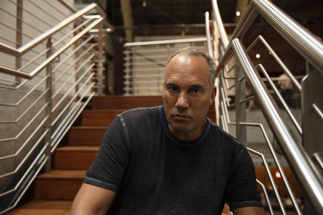 """Artist Roger Guenveur Smith at the 2019 JAW: A Playwrights Festival,where he workshopped his play """"Otto Frank."""""""