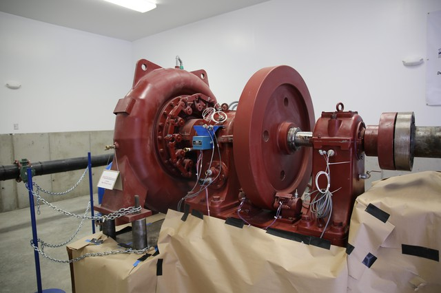 An example of a turbine from theWatson Micro Hydro Demonstration Project outside Sisters.