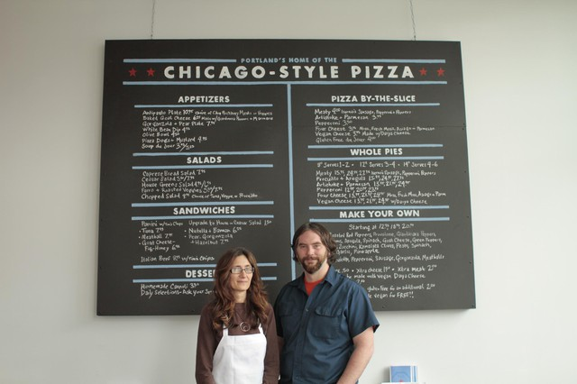 Tanya Mayhew and Kevin Reynolds are partners in the deep-dish business.