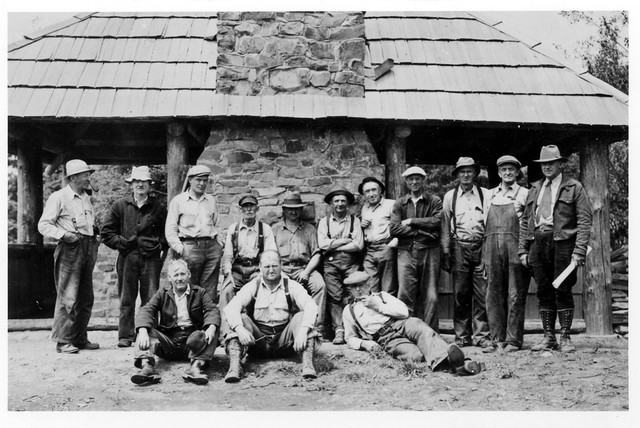 The Civilian Conservation Corps Company 662 built the Hebo Lake Campground community kitchen between 1935 and 1936.