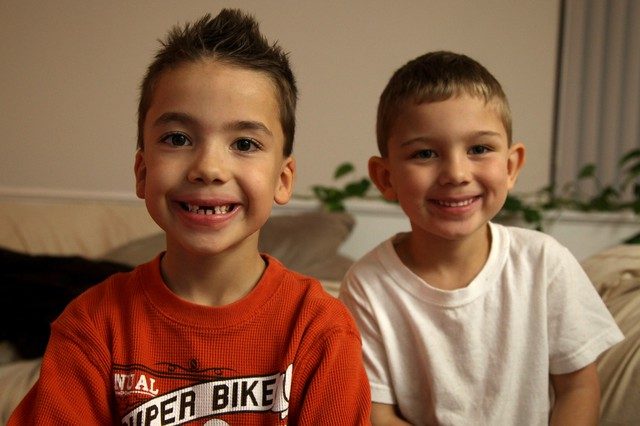 Raiden gets along well with his little brother, Hunter, who is in preschool. They like to play trucks together.