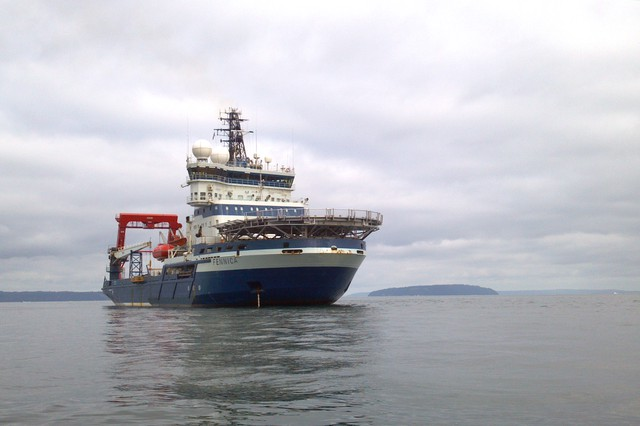 The Finnish icebreaker Fennica in November of 2013.