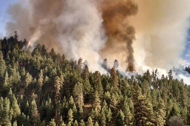 The Canyon Creek Complex Fire in the Malheur National Forest near Canyon City, Oregon began on Aug. 12, 2015 and has consumed an estimated 37, 119 acres. The fire was caused by lightning.