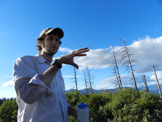 Portland State University PhD student Charles Maxwell is studying forest type-shifts.