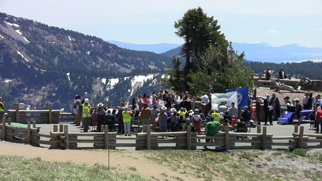 Crater Lake National Park hosted a naturalization ceremony on Independence Day.