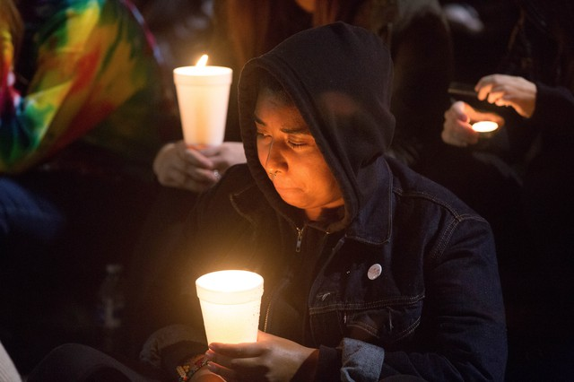 The activist group Portland Resistance gathered along Portland's waterfront to spread a message of unity and togetherness following several nights of protests.