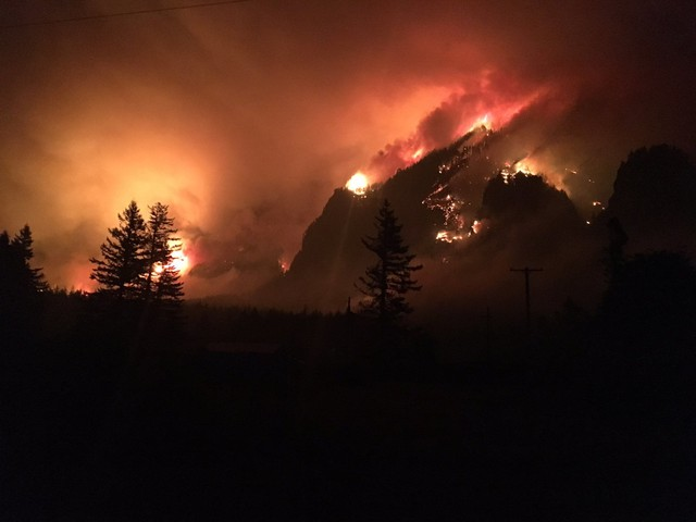 The Eagle Creek Fire spread through the Columbia River Gorge, September 4, 2017.