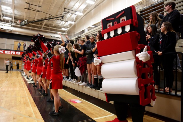 The Camas High School auditorium is Home to the Papermakers. The school's mascot is called the Mean Machine, an animated paper roll machine that's a nod to the town's paper making history.