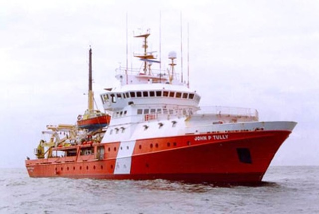 The John P. Tully 3, the Canadian Coast Guard vessel that sampled Pacific Ocean waters for Fukushima Radiation