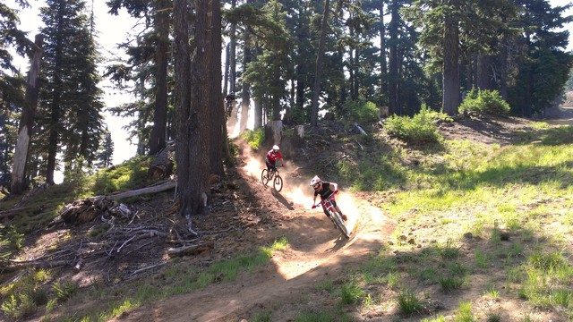 "Mount Bachelor opened to mountain bikers to cater to Bend's growing ""bike scene."""