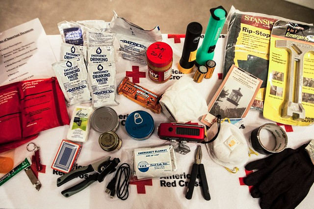 Emergency kits can contain everyday household items, like blankets, non-perishable food and communication devices like radios.
