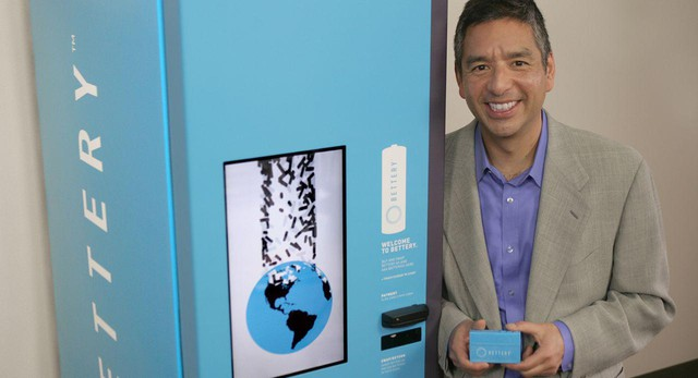 Bettery CEO Charles Kawasaki wants to reduce the environmental impact of batteries by selling swappable rechargeable batteries in grocery store vending machines. The machine would also collect used alkaline batteries.