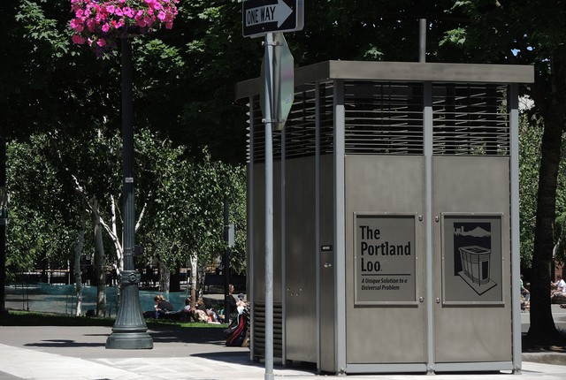 The Portland Loo at Jamison Square.