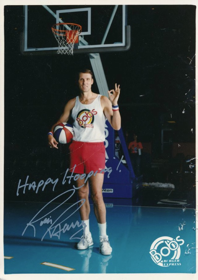 Basketball player Rick Barry was a paid spokesperson for Bob's Hamburgers.