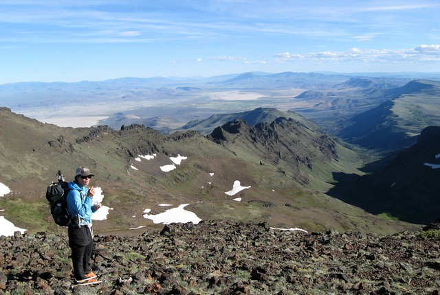 Sage Clegg on Steens Mountain.