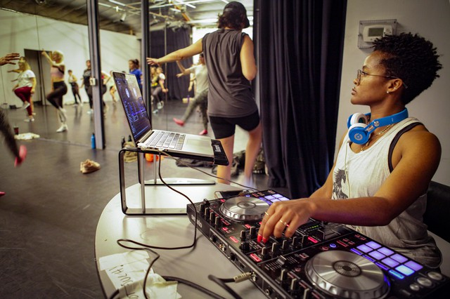Jaquita Ta'le is an instructor and also deejays at Pony Sweat, a punk aerobics class in Los Angeles.