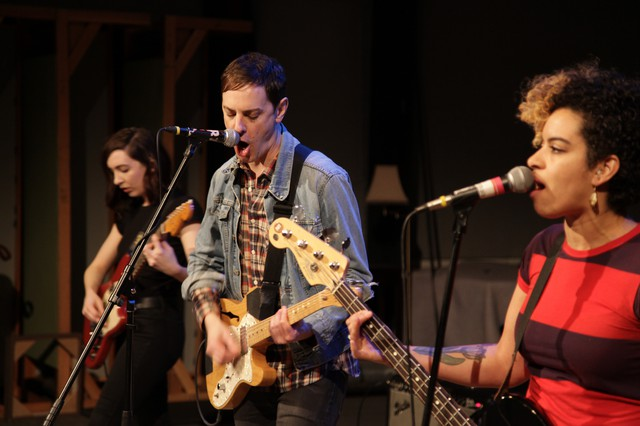 The Thermals in the studio at OPB