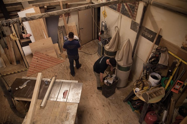 The scene shop at Artists Repertory Theatre.
