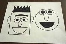 My drawing for a Bert sandwich and an Elmo tomato